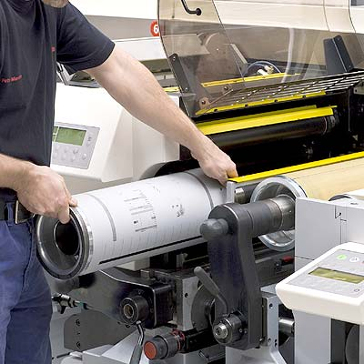 drukpers offsetplaat wisselen